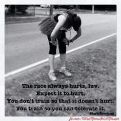 it hurts, train for it
