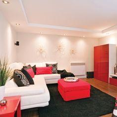 Modernité au sous-sol - Salon - Inspirations - Décoration et rénovation - Pratico Pratique