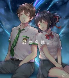Kimi no na wa Kimi No Na Wa, Watch Your Name, Mitsuha And Taki, The Garden Of Words, Your Name Anime, Romance Art, Popular Anime, Beautiful Stories, Anime Artwork