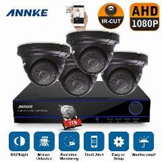 [ $24 OFF ] Annke 4Ch Hd Cctv System 1920*1080P Dvr 1080P 2.0Mp Outdoor Video Surveillance Security Camera System 4 Channel Dvr Kit 1Tb Hdd