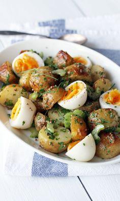 Uusien perunoiden salaatti | Maku