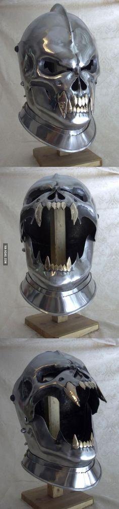 That's one fierce looking helm