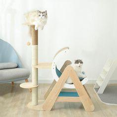 Moon Ship Cat Climbing Frame Cat Trees Cheap, Wooden Cat Tree, Cardboard Cat Scratcher, Dog Tent, Cat Climbing Tree, Elevated Dog Bed, Dog Cots, Cat Gym, House Tent