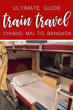 How To Get From Chiang Mai To Bangkok By Train   Learn about our overnight train experience from Chiang Mai to Bangkok during your Thailand travel. Learn about how to book your train, what to expect and other tips to make your travel comfortable. Thailand travel tips to help you with your Thailand vacation & Bangkok destination #enSquaredAired #chiangmai #thailand #bangkok