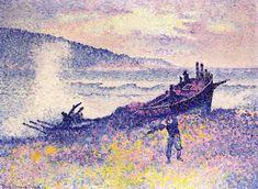 L épave, huile sur toile de Henri Edmond Cross (1856-1910, France)