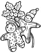 Christmas Gingerbreads Coloring page
