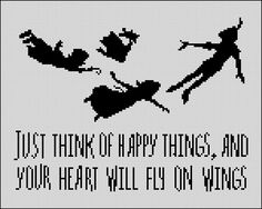 Peter Pan Cross Stitch Pattern Wendy and Co flying by StitchLine