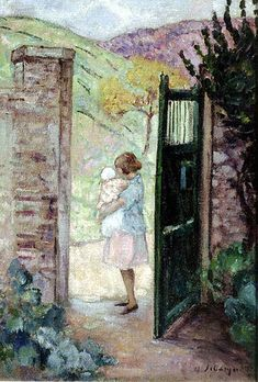 Girl by the Gate (Henri Lebasque)