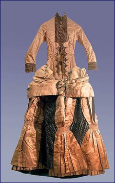 An 18 year old Bucksport native and daughter of a Bangor captain, Annie Florence Stubbs wore this dress on July 13, 1887, when she married 3...