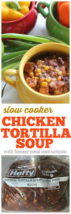 Slow Cooker Chicken Tortilla Soup Recipe | PinkWhen