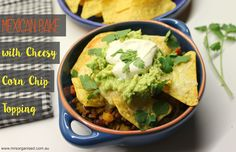 Some nights call for a quick and easy meal and this dish fits the bill perfectly … Mexican Bake with Cheesy Corn Chip Topping. This recipe uses simple ingredients to create a yummy, rich stew ser... Cheesy Corn, Mashed Avocado, Fresh Coriander, Corn Chips, Melted Cheese, Freezer Meals, Easy Meals, Mexico, Recipe Using