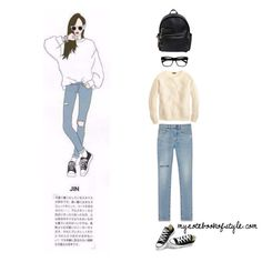 Jin ideal girl fashion