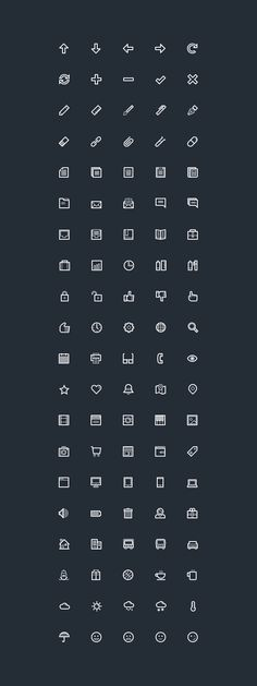 Lineart Icons | GraphicBurger