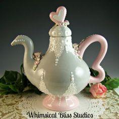 Whimsical Bliss Studios - I Love Tea Pot