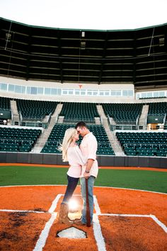 Love this engagement shoot at the Disch-Falk baseball field at the University of Texas.