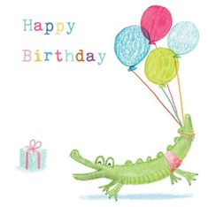 Children's birthday cards from babies to teenagers Happy Birthday Kids, Happy Birthday Wishes Quotes, Happy Birthday Greeting Card, Kids Birthday Cards, Greeting Cards, Alligator Crafts, Alligator Birthday, Kids Cards, Crafts For Kids