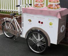 Cupcake bike cart, Babycakes bakery, New York City.