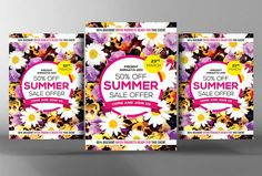 Summer Sales Flyer Template by Business Templates on @creativemarket