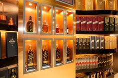 Chemetal 906, Brushed Copper, in the Johnnie Walker VIP Lounge, Aukland Airport.  chemetal.com