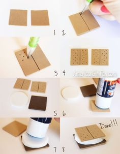 American girl doll food - Doll Food Craft How To Make S'mores! Cosas American Girl, American Girl Food, American Girl Crafts, Crafts For Girls, Diy For Girls, Ag Dolls, Girl Dolls, Ag Doll Crafts, Hat Crafts