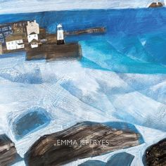 Twenty years on from her very first exhibition of paintings, held at the New Craftsman Gallery, few contem- porary artists are as closely associated with the town of St Ives as Emma Jeffryes. Young Art, St Ives, Seascape Paintings, Rollers, Beach, Outdoor Decor, Artist, Artists, Ocean Drawing
