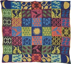 Arts and Crafts Blanket Knitting Pattern