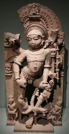 Shiva Bhairava,India,Gurjara Prd,10thC A.D.Holds the severed fifth head of Brahma tightly by the hair