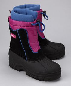 Take a look at this Totes Pink & Black Jean Boot by Toasty Toes: Kids' Boots on #zulily #fall today!