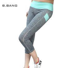 B.BANG Pants 2017 Women Skinny Pant Capris Elastic Slim Leggings Comfortable Casual Workout Exercise Calf-length Pants 5 Color(China (Mainland))