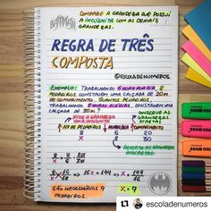 Regra de três composta | Professor Thyago Araújo, do @escoladenumeros ✓✓✓ #MatemáticaBasica #RegraDeTrês #Enem #VemEnem #Aprovação… School Diary, Mental Map, Portuguese Lessons, I Love School, Physics And Mathematics, Study Organization, Bullet Journal School, Study Planner, Exam Study