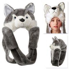 Animal Hats With Paws - Hayvan Figürlü Peluş Başlık