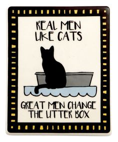 Take a look at this Our Name Is Mud Black & Blue 'Real Men Like Cats' Magnet today!