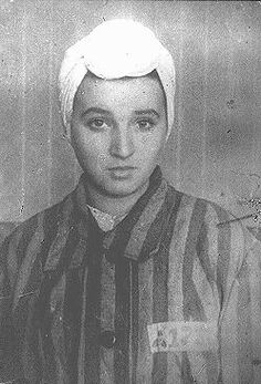 A 14-year-old inmate of the Kaiserwald concentration camp near Riga. Latvia, 1943.