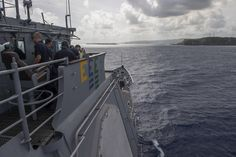 APRA HARBOR, Guam (June 11, 2015) The Ticonderoga-class guided-missile cruiser USS Shiloh (CG 67) transits into Apra Harbor, for a port visit. Shiloh is on patrol in the U.S. 7th Fleet area of responsibility in support of security and stability in the Indo-Asia Pacific region. (U.S. Navy photo by Mass Communication Specialist 2nd Class Raymond D. Diaz III/Released)