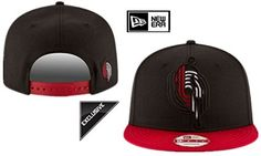 Portland Trail Blazers NBA Flat Visor Logo Style Team Logo Black Adjustable Hat * Click image to review more details.