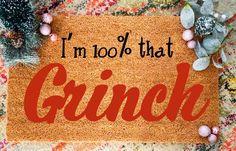 That Grinch Doormat, Funny Lizzo Doormat, Christmas Gift, DNA Test Turns Out Grinch Doormat Christmas Doormat, Christmas Gifts, Friend Moving Away, No Diggity, Funny Doormats, Long Distance Gifts, Outdoor Paint, Boy Quotes, Dna Test