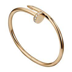 Juste un Clou bracelet - Pink gold, diamonds - Fine Bracelets for women - Cartier