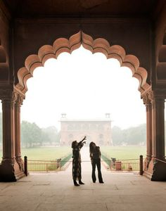 At the Red Fort in Delhi, India.