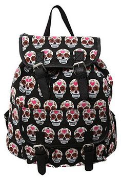 61b42be913f3 Sugar Skull Cinch Canvas Backpack - 872100  Sonia S Gonzalez http   www