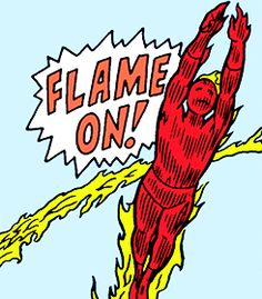 The Human Torch by Jack Kirby