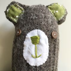 A personal favourite from my Etsy shop https://www.etsy.com/listing/478292321/bernard-bear-ugly-plush-stuffed-animal