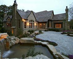 Tudor style home.