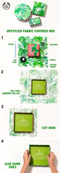 Keep hold of your Christmas gift-set packaging and upcycle it with a little help from The Body Shop. Transforming your empty packaging into an Upcycled Fabric Covered Box is super-easy – just add fabric or wrapping paper! Fabric Storage Boxes, Ikea Storage, Craft Storage, Storage Containers, Baby Clothes Storage, Baby Food Storage, Christmas Gift Sets, Christmas Diy, White Christmas