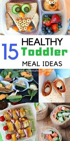 15 Unique Healthy Lunch Ideas for Kids! 15 Healthy Toddler Meal Ideas for Picky eaters The post 15 Unique Healthy Lunch Ideas for Kids! appeared first on Garden ideas - Health and fitness Healthy Toddler Meals, Toddler Snacks, Healthy Kids, Kids Meals, Easy Meals, Healthy Recipes For Toddlers, Toddler Dinners, Snacks Kids, Clean Eating Snacks