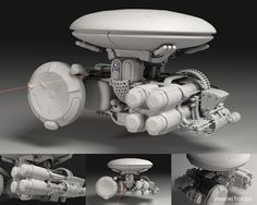 Heavy Equiped Combat Drone 1.0 by ~maciejfrolow on deviantART