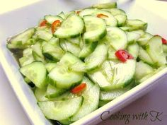 Spicy Asian Cucumber Salad - Cookingwithk.net