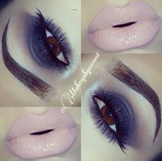 """by @makeupbynessa1 using @motivescosmetics EYES:Start by applying motives eye base all over eyelid with """"Blizzard""""highlight brow bone,apply """"cappuccino""""on crease lightly & blend,apply """"Onyx""""on eyelid,bring it up a little towards crease & blend,for water line apply black eye pencil & """"onyx"""" eyeshadow under lash line. LIPS: """"NICE"""" lipstick & clear motives clear lip gloss. All #motives products are available for US/CAN at www.MOTIVESCOSMETICS.com #motd #motivescosmetics #makeup #beauty #glam…"""