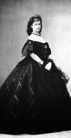 THE BLACK H.I.R.M. Empress Elisabeth of Austria, Queen of Hungary, née Duchess in Bavaria (1837-1898)