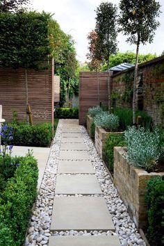 Small Garden Landscape, Small Backyard Gardens, Small Backyard Landscaping, Backyard Garden Design, Back Gardens, Small Gardens, Landscaping Ideas, Backyard Designs, Landscape Steps