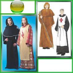 Knights Templar Medieval Cloak Monk Robe Patterns s XL M4627 | eBay